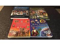 4 children's encyclopedias educational books