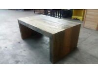 Reclaimed pitch pine coffee table fully treated and waxed. Delivery can be arranged