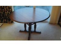 Ercol Golden Dawn drop leaf dining table and chairs