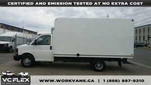 2010 GMC Savana G3500 14Ft Box + Ramp V8 Gas