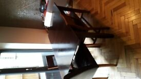 Large Wooden Dining Table (Seats 6)