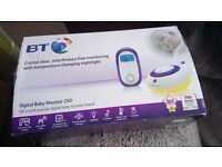 BT Baby Monitor 250, No Instruction Booklet, Easy Set Up. VGC