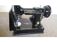 Portable Singer Sewing featherweight machine. Centennial eddition- 221k1