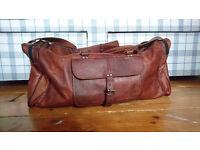 Genuine Leather Vintage Style Large Travel Bag