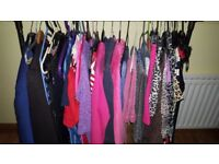 RAIL OF GIRLS CLOTHING FOR SALE.