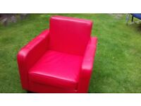 Small Red sofa chair
