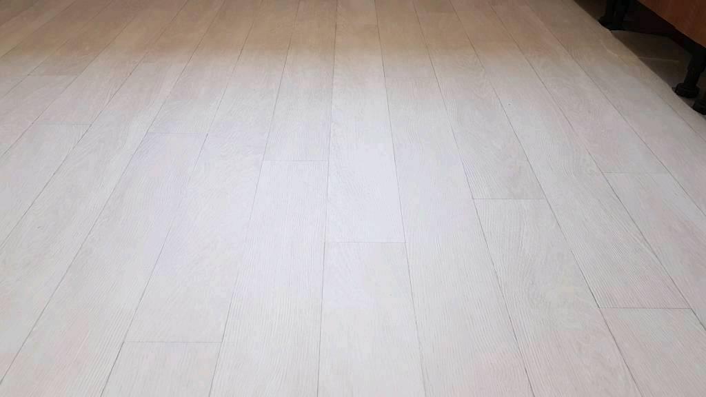 Vinyl Floor Lino Wood Effect White Cream 2 1x2 4m