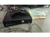 Xbox 360 250GB Slim With Games and Pad