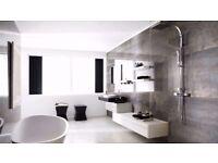 Porcelanosa Shine Platino bathroom wall tiles