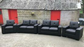 New 4 piece leather suite