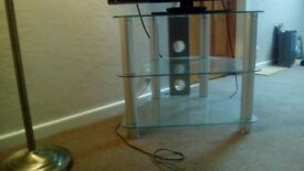 Glass 32 Inch Slimline TV Stand. Good as New.
