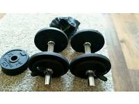 2 x 10kg dumbells and set of resistant band