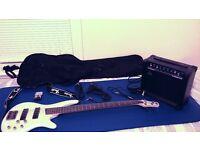 Ibanez SR 300 / SR300 Bass Guitar + Amp, Gigbag, Tuner, 10 Picks, Cables