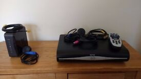 SKY+HD box 500gb hard drive & SKY Router - all original leads and remote control