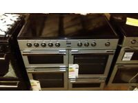 FLAVEL MLN10CRS Electric Ceramic Range Cooker - Silver & Chrome