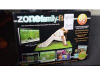 Zone family fit mat plugs into the tv