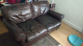 Sofa (Laura Ashley) 100% Cardinal Leather