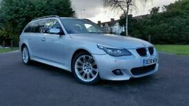 2008*AUTO*DIESEL*BMW 520d M SPORT [177] AUTO*HPI CLEAR*SILVER*TOP OF THE RANGE*FSH*SATNAV*