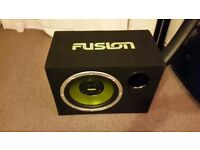 Fusion subwoofer bass box