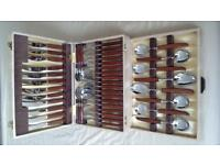 VINTAGE 44 PIECE GLOSSWOOD CUTLERY SET
