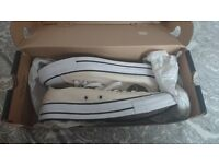 Converse All Stars, brand new in box, never worn. Cream/off yellow. Unisex ,size 6.