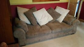 Two sofas and a stool in good condition