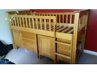 Single bed pine sleep station (M&S furniture) - Used