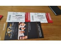 U2 concert tickets Sunday 9th July