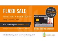 FLASH SALE - NVQ Level 6 - £1000 - CSCS Black Card