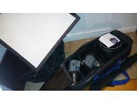 Interfit INT119 EXD 200Watt/second 2 Head Digital Umbrella Softbox Kit