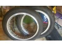 Honda CB400/4 Borrani Wheels and tyres