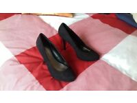 Ladies black suede shoes