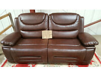 BANKRUPT STOCK REDUCED £375 Brand New Premium Recliner Pablo Faux Leather Three Seat Sofa
