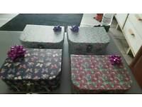 4 small cases ideal xmas birthdays ect