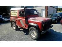 96 Landrover Defender 90 TD DIESEL MOT 18/10/2018 Red good driver Can be seen anytime