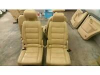 Genuine Volkswagen touran (beige) leather interior + headrests + free door cards + center armrest