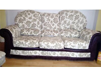 nice solid 3 seater sofa in cream mint bargain