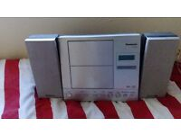 Panasonic cd radio remote control, music port