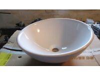 Bathroom worktop sink