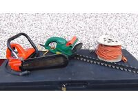 chain saw electric +electric hedge trimmer