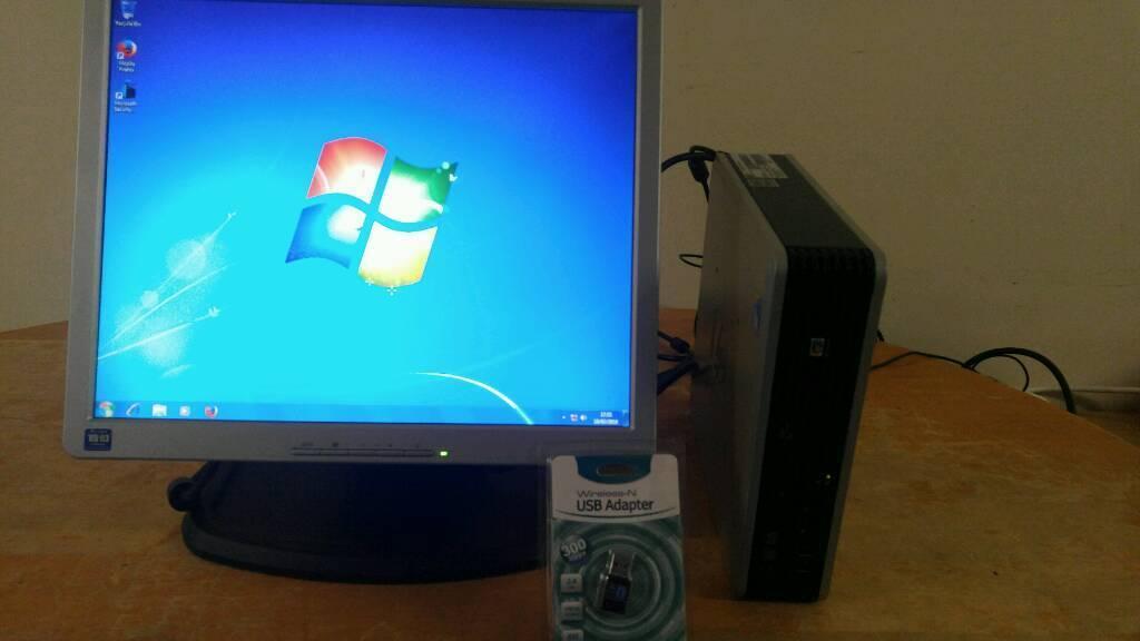 Hp Ultra Slim Form Computer Desktop Pc 17 Lcd