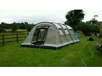 Outwell Montana 6 man tent with extention, footprint and carpet.