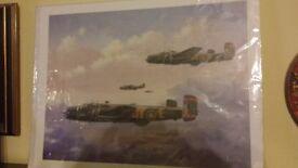 Three iconic aircraft prints