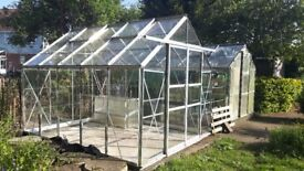 10ft by 8ft Europa Manor Greenhouse for sale. Good, clean condition. Buyer dismantles. £250