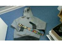 Lovely boys hoody also marvel belt