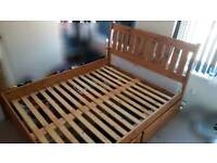 KINGSIZE WOODEN BED