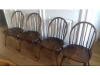 Vintage Classic Ercol 370 Windsor Dining Chairs x 4 - Priced to sell quickly!