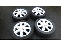 A set of 4 alloy wheels to suit Renault Megane II 4 stud