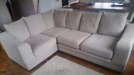 Corner sofa with matching 2 seater settee