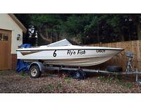 Speed boat Fletcher arrowflight 114